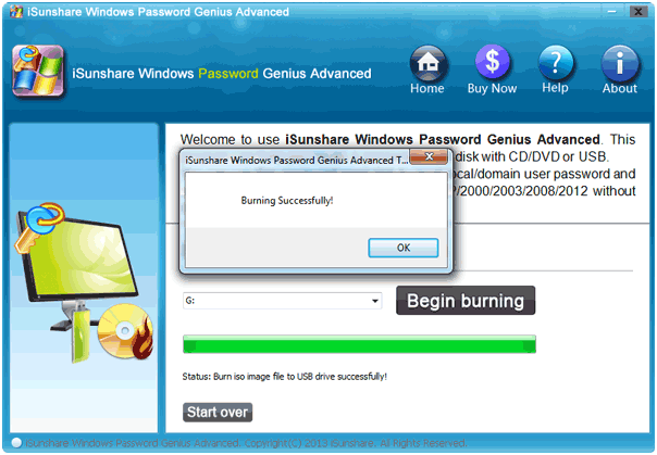 user guide burning successfully