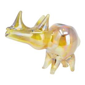 Golden Rhino Glass Pipe