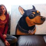 Oil painting created to forever remind the owner of the impact her beloved dog made on her heart